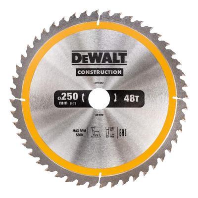 Диск пильный по дереву 250х30 мм 48T CONSTRUCTION DeWalt DT1957