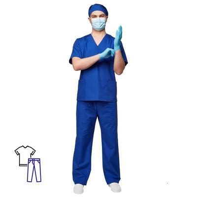 Костюм хирурга универсальный м05-КБР васильковый (размер 52-54, рост 170-176)