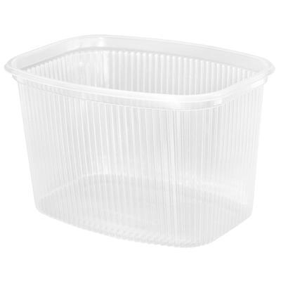 Одноразовый пластиковый контейнер для салатов 750 мл прозрачный (500 штук в упаковке)