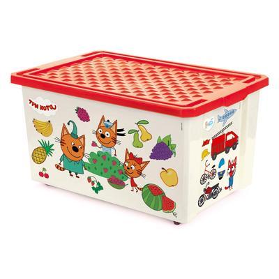 Детский ящик  Три кота Обучайка 57 л (красный, 610х405х330 мм)