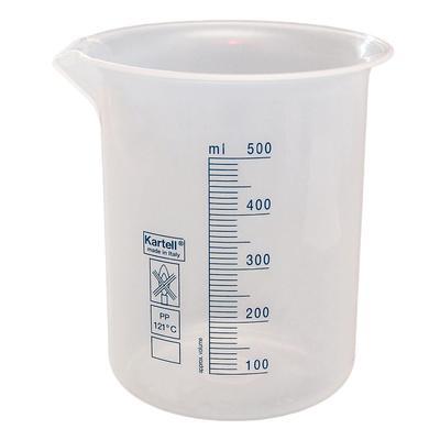 Мерный стакан полипропилен 500 мл (12 штук в упаковке)