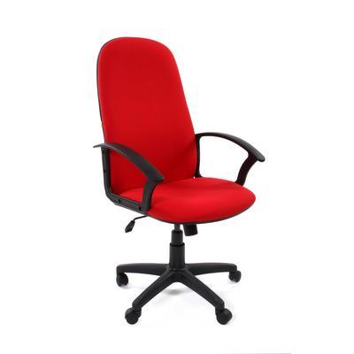 Кресло для руководителя Chairman 289 красное (ткань, пластик)