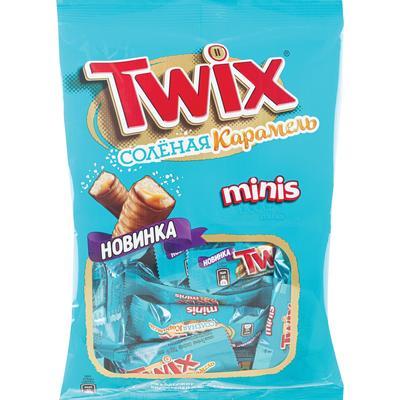 Шоколадный батончик Twix с соленой карамелью мини 184 г