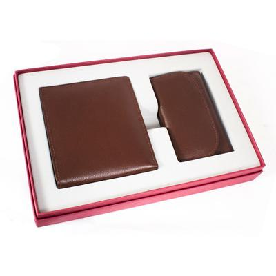 Подарочный набор Биллфорд кожа, коричневый