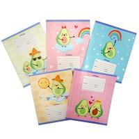Тетрадь школьная Канц-Эксмо Веселые авокадо А5 24 листа в линейку (обложка в ассортименте)