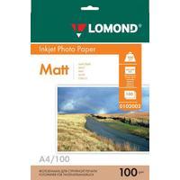Фотобумага для цветной  струйной печати Lomond двусторонняя (матовая, А4, 100 г/кв.м, 100 листов, артикул производителя 0102002)