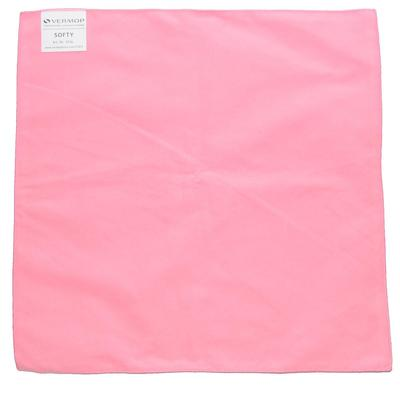 Салфетка хозяйственная Veprmop Softy микрофибра 40x40 см розовая 3 штуки