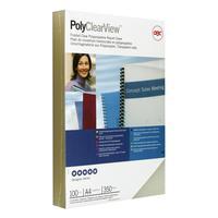 Обложки для переплета пластиковые GBC А4 350 мкм полупрозрачные матовые (100 штук в упаковке)