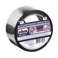 Клейкая лента металлизированная Unibob 48 мм x 50 м 50 мкм серая