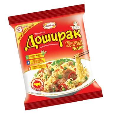 Лапша Доширак Квисти со вкусом говядины 70 г (48 штук в упаковке)