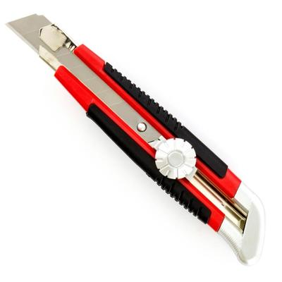 Нож универсальный Matrix с винтовым фиксатором и металлическими направляющими (ширина лезвия 18 мм)