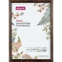 Рамка Attache А4 21x30 см пластиковый багет 14 мм темный орех
