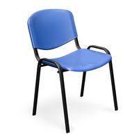 Стул офисный Easy Chair Изо синий (пластик, металл черный)
