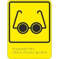 Знак безопасности Знак доступности объекта для инвалидов по зрению (200х150мм, пластик)