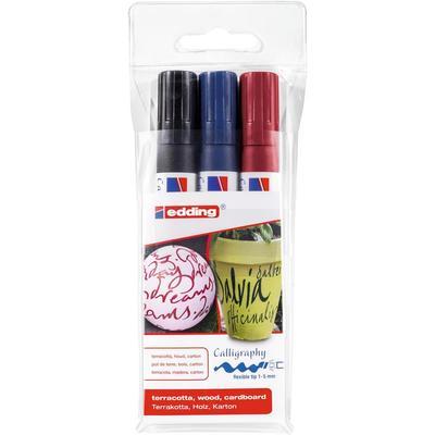 Набор маркеров Edding 1455 3 цвета (толщина линии 1-5 мм)