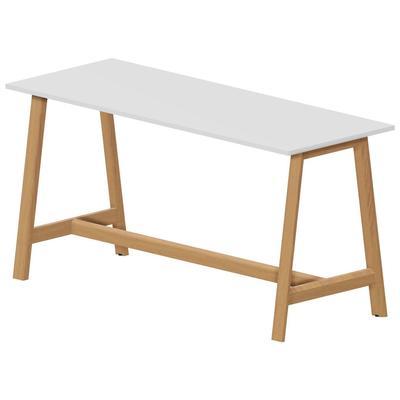 Стол для переговоров Artwood (белый/бук, 2100x800х1050 мм)