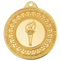 Медаль призовая Факел 40 мм золотистая