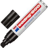 Маркер перманентный Edding E-800/1 черный (толщина линии 4-12 мм) скошенный наконечник