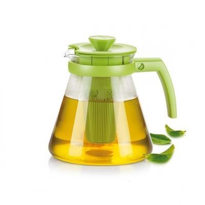 Чайник с ситечками для заваривания стекло/пластик зеленый Tescoma Teo 1.25  л (646623.25)