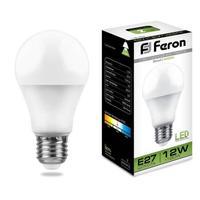 Лампа светодиодная Feron 12 Вт E27 грушевидная 4000 К нейтральный белый свет