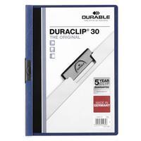 Папка с клипом Duraclip 2200 A4 до 30 листов синий