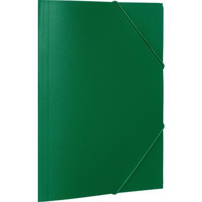 Папка на резинках Attache Economy A4 35 мм пластиковая до 300 листов зеленая (толщина обложки 0.5 мм)