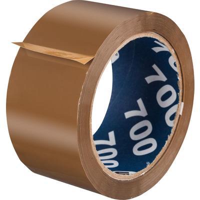 Клейкая лента упаковочная Unibob 700 50 мм x 66 м 47 мкм коричневая   (морозостойкая)