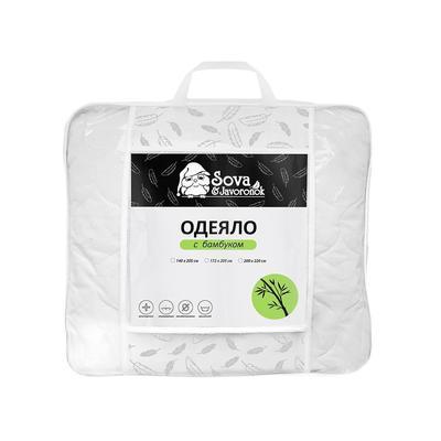 Одеяло Сова и Жаворонок 200х220 см бамбук-полиэфирное волокно/микрофибра стеганое