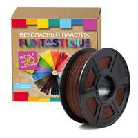 Пластик PLA для 3D-принтера Funtastique коричневый 1.75 мм 1 кг