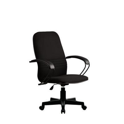 Кресло офисное Метта  CP-1 черное (ткань/пластик/металл)