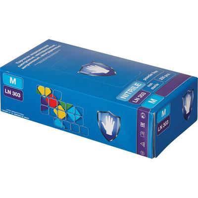 Перчатки медицинские смотровые нитриловые Safe and Care неопудренные фиолетовые (размер M, 200 штук/100 пар в упаковке, LN303)