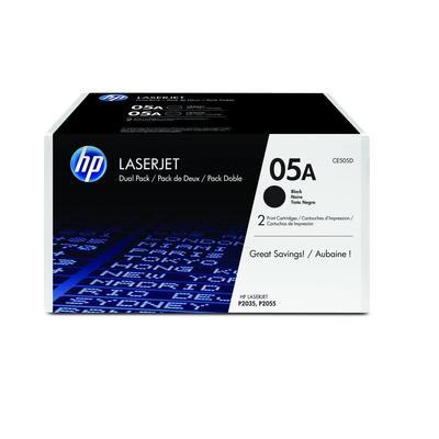 Картридж лазерный HP 05A CE505D черный оригинальный (двойная упаковка)