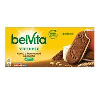Печенье песочное Юбилейное BelVita Утреннее сэндвич с какао 253 г