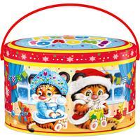Новогодний сладкий подарок Ваня и Маня 500 г (с магнитом)