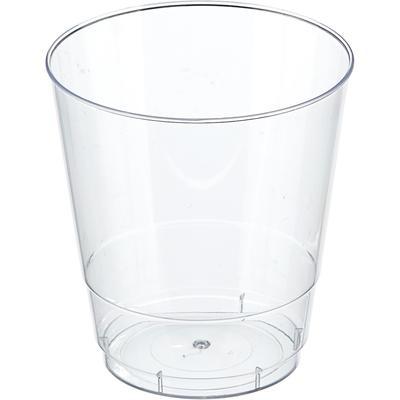 Стакан одноразовый пластиковый 200 мл прозрачный 50 штук в упаковке Комус Кристалл Стандарт