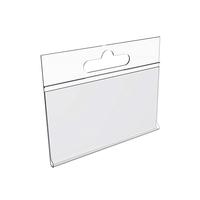 Навесной ценникодержатель DBHH39 на крючок прозрачный (100 штук в упаковке)