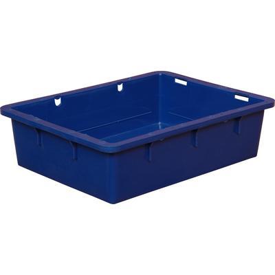 Ящик (лоток) сырково-творожный из ПНД 532х400х141 мм синий