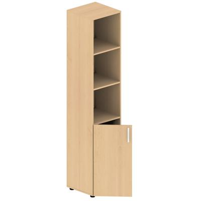 Шкаф МЕТ полуоткрытый узкий (клен, 400х420х1950 мм)