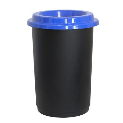 Урна для мусора Idea Эко 50 л пластик черная/синяя (42x59 см)