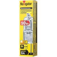 Лампа галогенная Navigator JC 10 Вт clear G4 12В 2000h (94209)