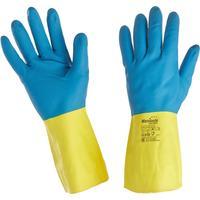 Перчатки Manipula Specialist Союз LN-F-05 из неопрена и латекса синие/желтые (размер 9, L)