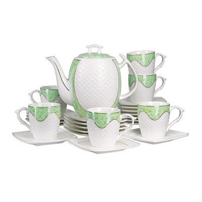 Сервиз чайный Loraine (26834) на 6 персон (6 чашек 220 мл, 6 блюдец, чайник 1.3 л)