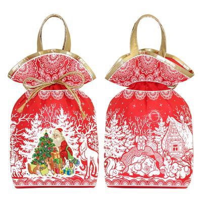 Новогодний сладкий подарок мешочек Большой красный 1200 г (с купоном)