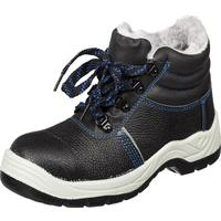 Ботинки утепленные из натуральной кожи/искусственной кожи черные (размер 42)