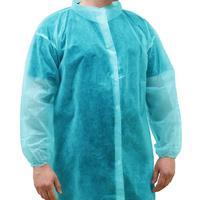 Халат одноразовый процедурный Klever на липучке размер XL голубой  (10 штук в упаковке)