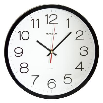 Часы настенные Apeyron Офис (30х30х4 см, черные)