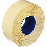 Этикет-лента волна белая 22х12 мм с усиленным акриловым клеем (12 рулонов по 1500 этикеток)
