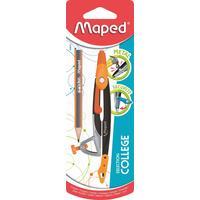 Циркуль Maped Metal Open 120 мм (мини-карандаш в комплекте)