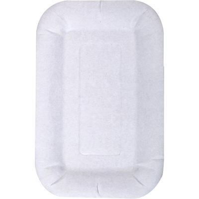 Тарелка одноразовая Комус бумажная белая 110x170 мм 200 штук в упаковке