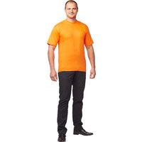 Футболка оранжевая короткий рукав 100% хлопок M (44-46)